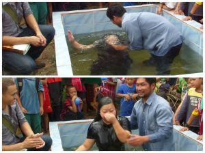 Michelle's baptism